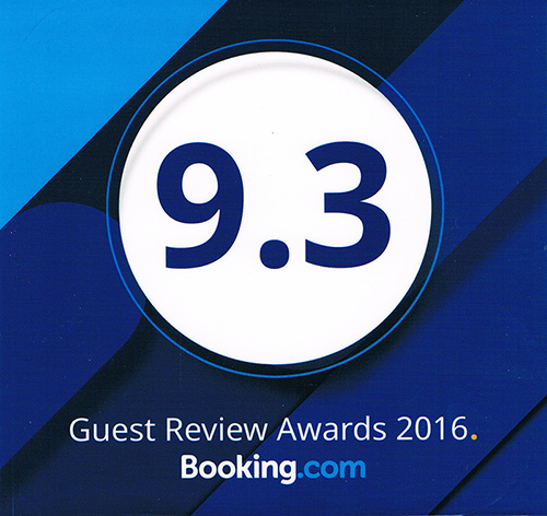Booking.com 9.3 2016 Award Winner